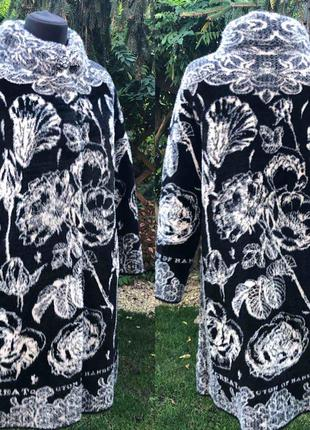 Шикарное пальто в актуальный принт отличное качество