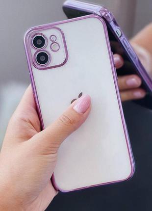 Гальванічний прозорий чохол для iphone