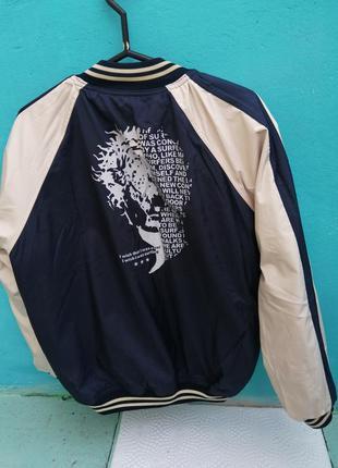 Куртка джинсовая 2-х сторонняя одна сторона джинсовая