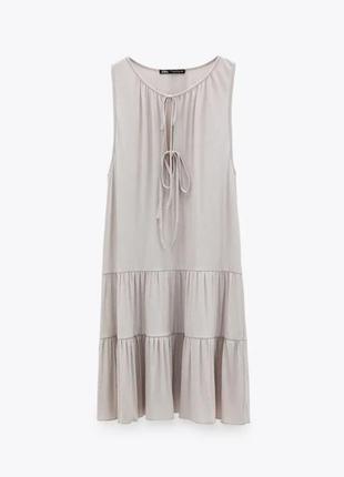 Шикарное платье из натуральных тканей zara