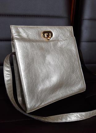 Кожаная сумка кроссбоди натуральная кожа