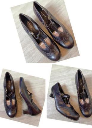 Туфли натуральная кожа semler большой размер батал стелька 28,5см