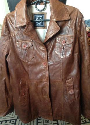 Мягкая кожаная куртка