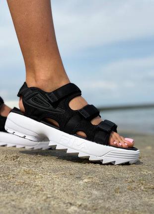 Скидка на последние размеры 🔥женские летние босоножки сандалии fila disruptor