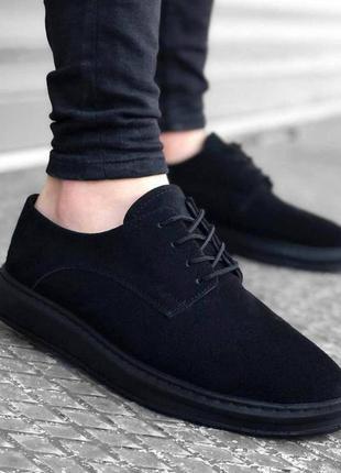 🔺класичні чорні чоловічі лофери туфлі черевики / мужские лоферы туфли ботинки 🔺