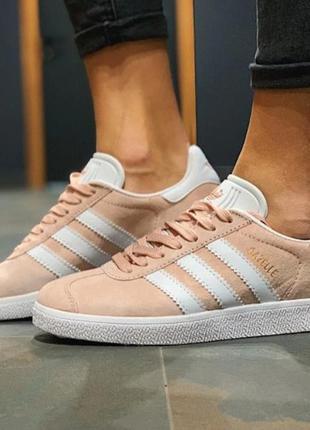 Женские кроссовки  замша adidas gazelle , кеды повседневные