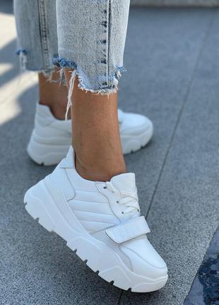 Идеальные кросовки натуральная кожа и замша с липучкой