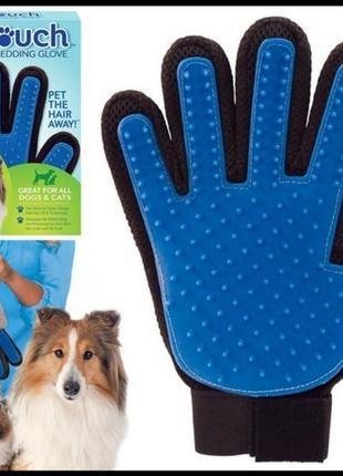 True touch массажная перчатка для чистки животных