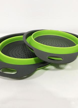 Дуршлаг складной collapsible filter baskets (силиконовый)