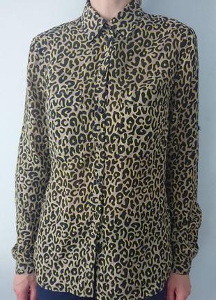 Обалденная рубашка/тонкая блуза s.oliver/леопардовый принт (тренд) р.xs-s