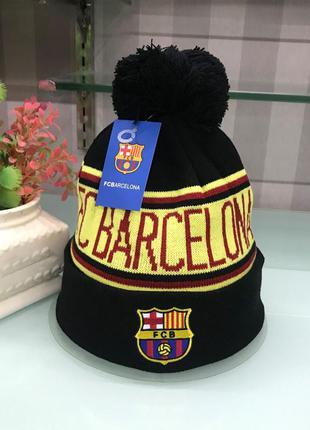 Шапка с бубоном fc barcelona (барселона)