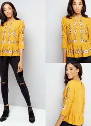 Блуза вишиванка в цветочный принт new look