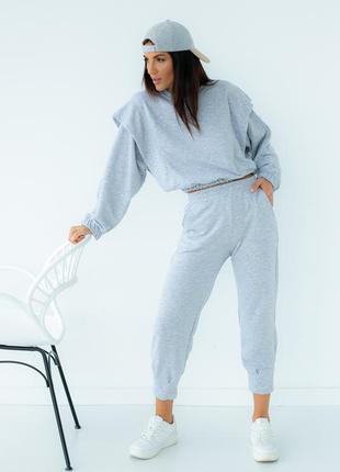 Серый спортивный костюм, арт. 3532