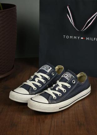 Converse all star оригинал! женские кеды джинсовые синие размер 36.5
