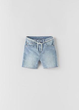 Джинсовые шорты zara для мальчика 6-7 лет и 11-12 лет