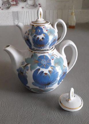 Набор заварочных чайников, купеческий, городницкий фарфоровый завод