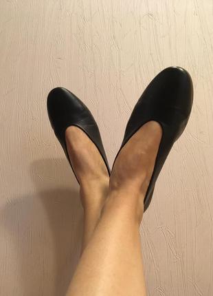 Кожаные туфли лодочки next
