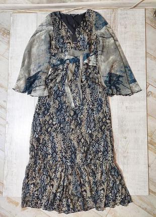 Платье макси новое шыфоновое длинное