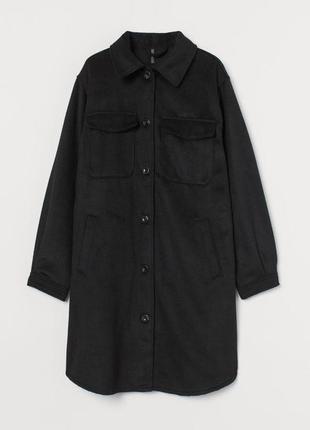 Красивое пальто рубашка легкое черное с 8