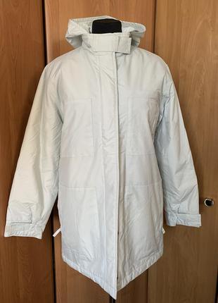 Куртка парка теплая  на синтепоне белая р.38