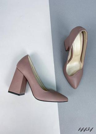 Рр 36-40. латте туфли из натуральной кожи