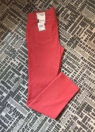 Новые джинсы кораллово-розовые gerry weber р.42/xl
