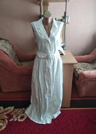 Платье сарафан с пуговицами в пол 100%хлопок