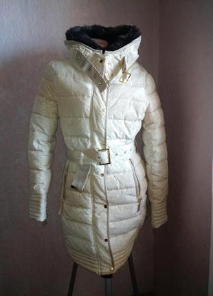 Куртка-пальто под пояс desigual *зима*