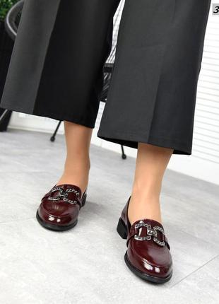 Рр 36-41.коричневые туфли лоферы из натуральной кожи
