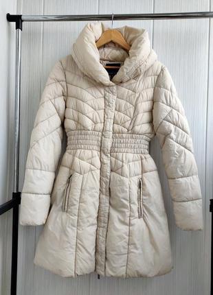 Утепленная куртка amisu l/xl удлинённое пальто на синтепоне
