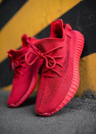 Новинка кроссовки унисекс adidas yeezy boost 350 v2 red наложка