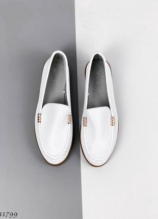 Балетки лоферы туфли натуральная кожа