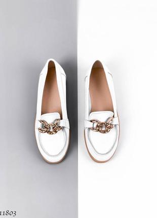 Балетки натуральная кожа белые женские удобные туфли