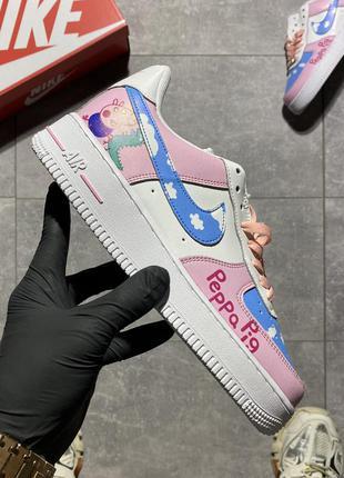 🌺 женские розовые кроссовки nike air force 1 low pink / жіночі рожеві кросівки осінь найк