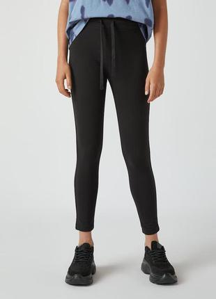 Базовые легинсы лосины спортивные штаны джоггеры с эластичной талией