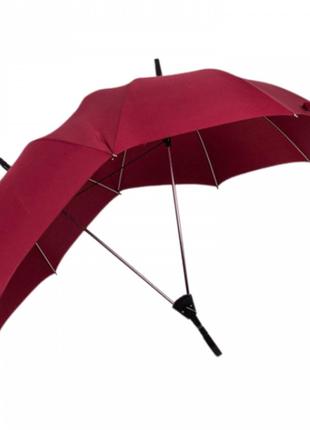 Двойной зонт трость. зонт для любимых. зонт для влюбленных. зонт для двоих. бордовый, синий, черный.