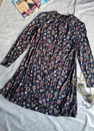 Новое трикотажное платье свободного кроя