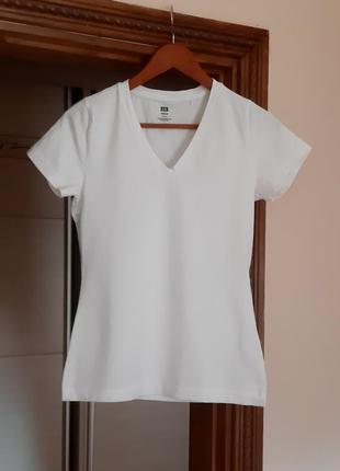 Белая хлопковая базовая майка футболка
