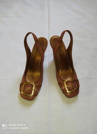 Туфли бразилия с открытой пяткой кожа, 40