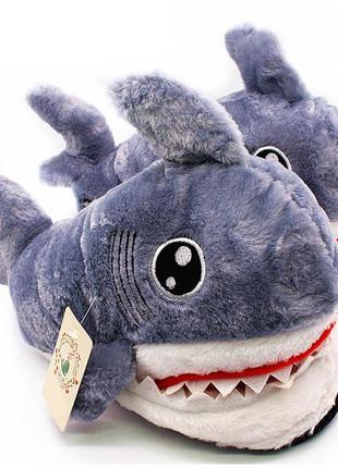Комнатные тапочки акула