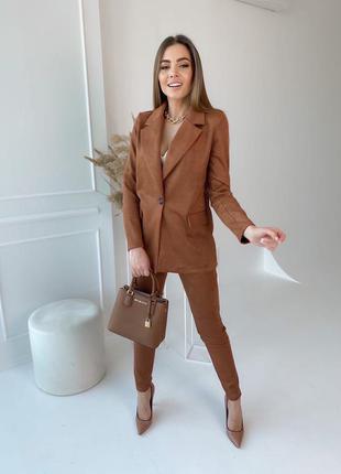 Женский костюм, костюм с брюками, костюм двойка, нарядный костюм