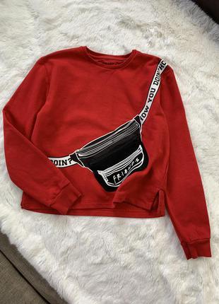 Красная флисовая кофта