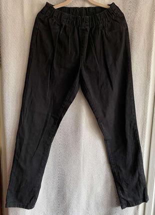 Женские черные джинсы мом на резинке. штаны, брюки высокая посадка