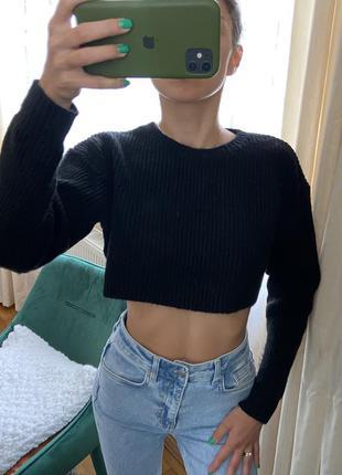 Топ кофта свитер светр укороченная кофта new look