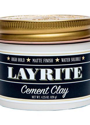 Глина для укладки волос layrite cement hair clay 120 г