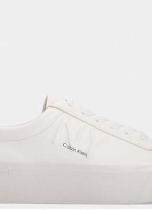 Белые кожаные кеды ck