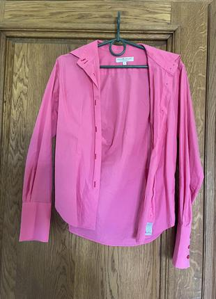 Трендовая розовая рубашка