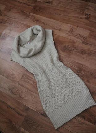 Tally weisl, ажурное, вязаное платье, туника