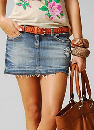 Распродажа!!!модная джинсовая юбка  размер 12-16