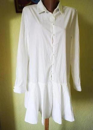 Платье рубашка зара белое, платье zara